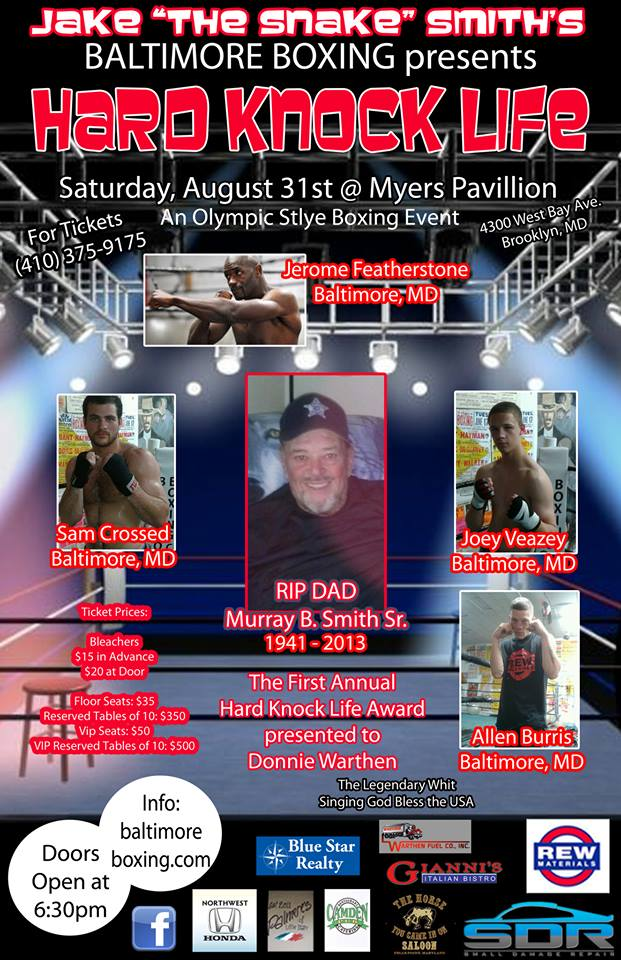August 31 Fight Poster