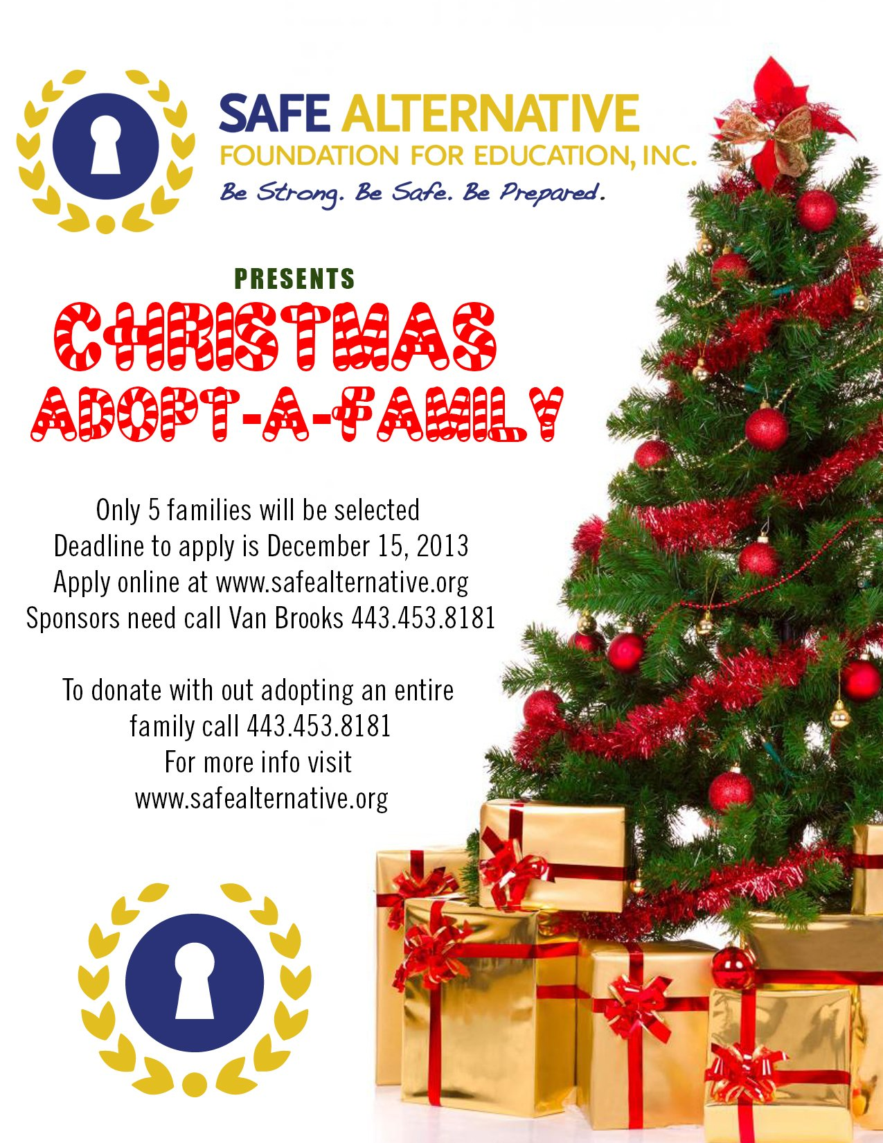 SAFE Alternative Presents Christmas Adopt-A-Family