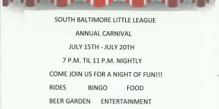 The South Baltimore Little League Carnival Begins Tonight