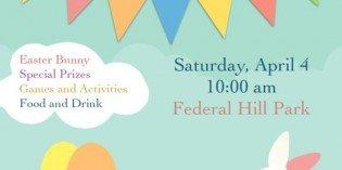 Federal Hill Kids Egg Hunt on April 4th