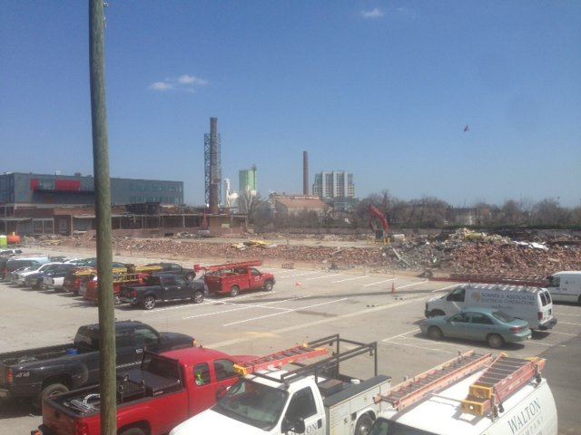 Demolition of the cold storage facility