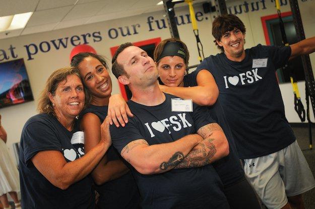 L-R: Teacher Wellness Champions Bethany Davis, Lauren Diresta, Jill Thomas, Matt Mutolo, Brad Rutherford