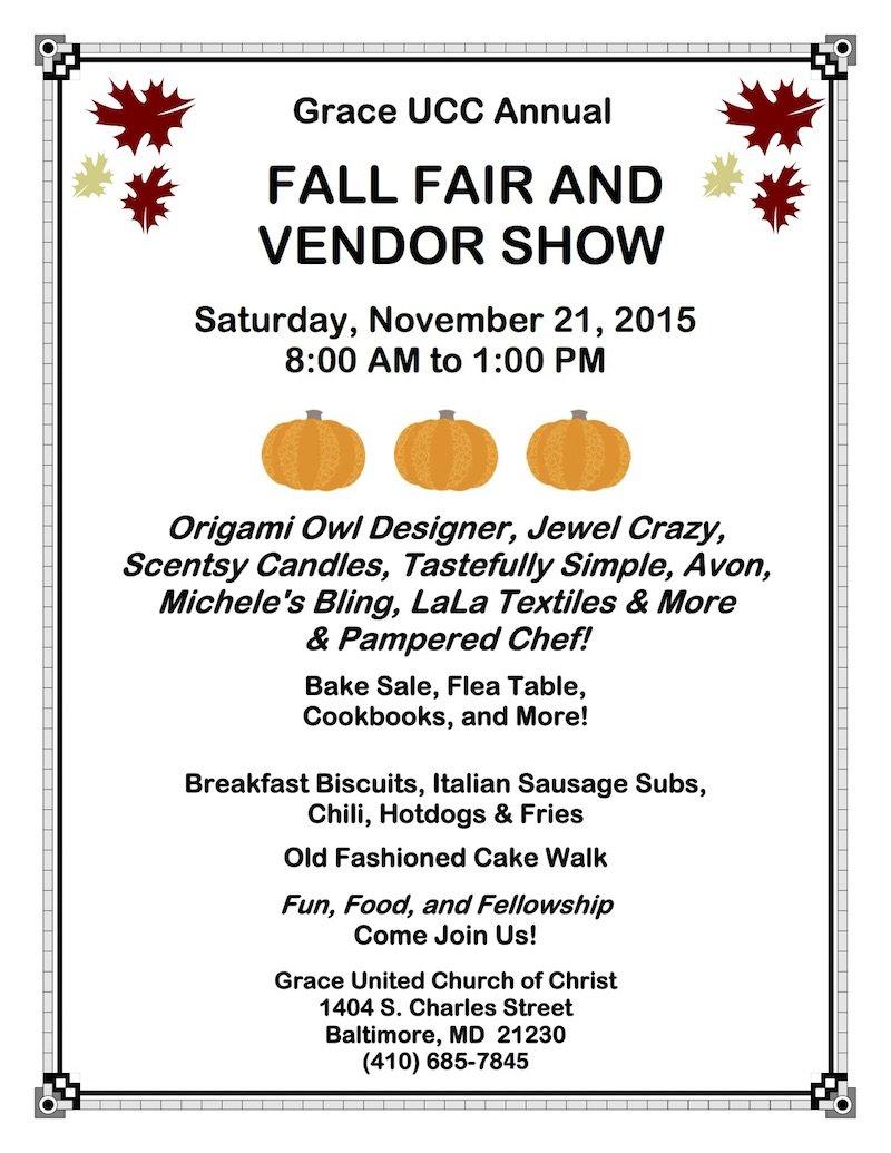 GUCC 2015 Fall Fair Flyer