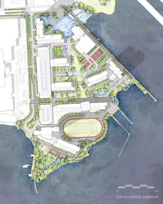 Under Armour Campus Map.Under Armour Reveals Plans For New 4 Million Sq Ft Port Covington