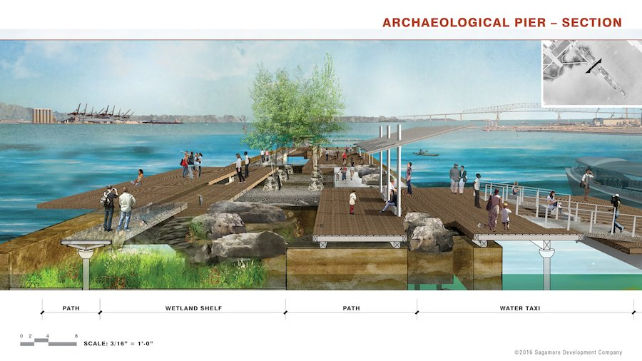 Archaeological Pier Section