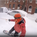 Video: A Snowboarding Ride Through South Baltimore