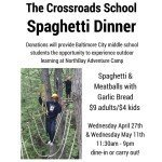 Spaghetti Dinner Fundraisers at JR's for The Crossroads School