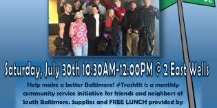 #TrashFit South Baltimore Cleanup this Saturday with 2 East Wells