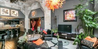 Million Dollar Monday: Locust Point Condo with Cement Columns and a Large Waterfront Patio
