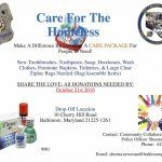 Southern District Police Collecting Care Packages for the Homeless