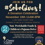 #SoBoGives Donation Celebration at the SoBo Pocket Park on November 19th