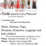 LuLa Palooza on Saturday, November 19th in Locust Point