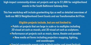 South Baltimore Art Project Grant Information Session this Saturday