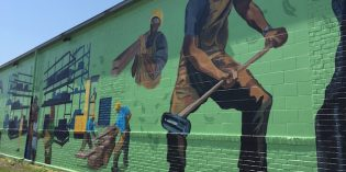 Second Chance Improves Campus with New Mural and Rainwater Filtration System