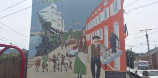 New Hollins Market Mural Honors the Neighborhood's Irish History