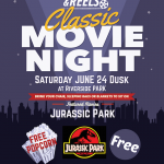 Jurassic Park Movie Night This Saturday at Riverside Park