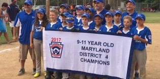 South Baltimore Little League 10-11 All-Star Team Wins District Championship