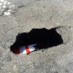 Sinkhole at Light and Cross Street in Federal Hill to be Repaired Today