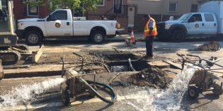 Water Main Breaks on Fort Avenue