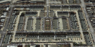 Before and After Overhead Maps of South Baltimore Development