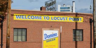 """Domino Sugar Adds a """"Welcome to Locust Point"""" Sign"""